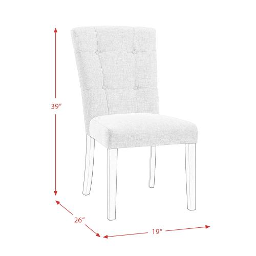 Elements - Lexi Tufted Upholstered Chair Set