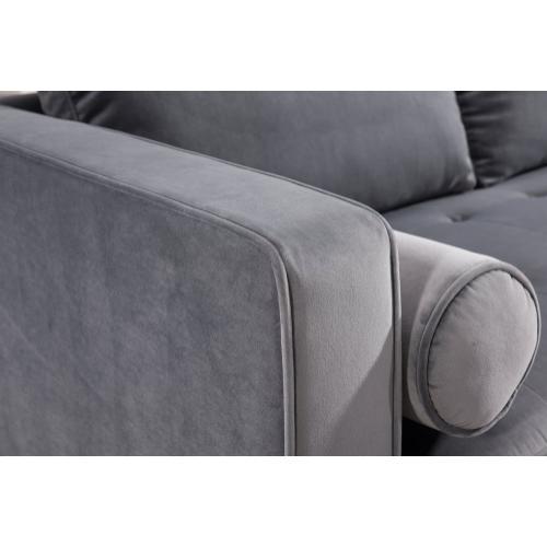 Tov Furniture - Como Grey Velvet Sectional RAF