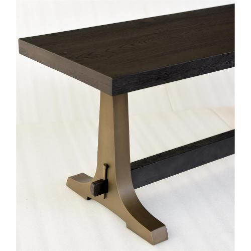Winston - Dining Bench - Inkwell Finish