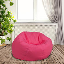 Small Solid Hot Pink Bean Bag Chair for Kids and Teens