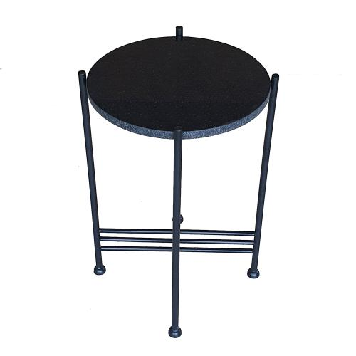 A & B Home - Black Marble Table