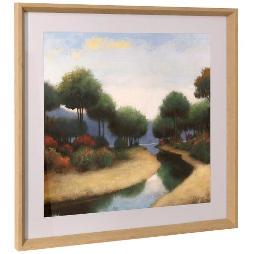 Style Craft - BY THE WATERWAYS I  26in ht X 26in w  Framed Print Under Glass