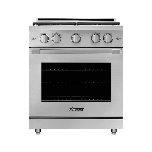"30"" Gas Range, Silver Stainless Steel, Natural Gas"