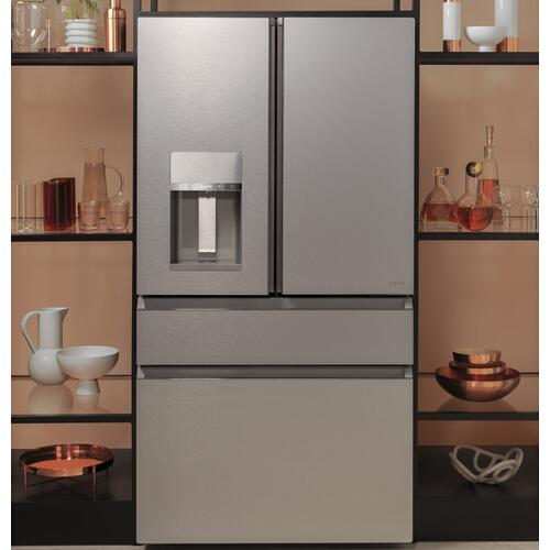 Café ENERGY STAR ® 27.8 Cu. Ft. Smart 4-Door French-Door Refrigerator in Platinum Glass