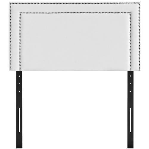 Modway - Jessamine Twin Upholstered Vinyl Headboard in White