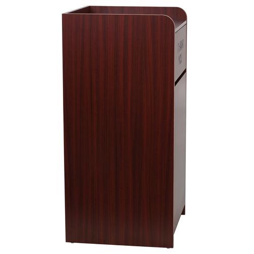 Flash Furniture - Wood Tray Top Receptacle in Mahogany