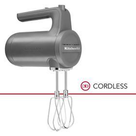 Cordless 7 Speed Hand Mixer - Matte Charcoal Grey