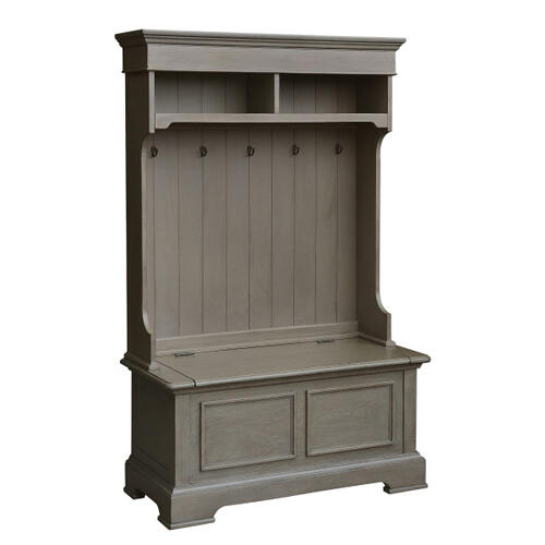 Grey Hall Tree Hutch