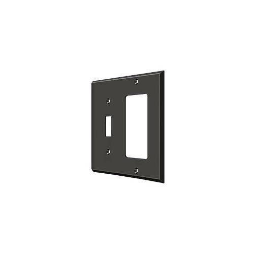 Switch Plate, Single Switch/Single Rocker - Oil-rubbed Bronze