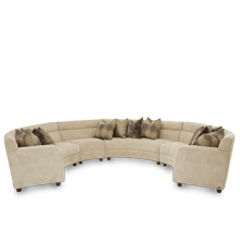 See Details - Cloche 4pc Sectional Grp2 Opt1 Bourbon
