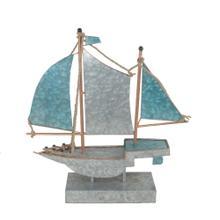 Silver/teal Metal Sailboat