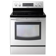 Refurbished 5.9 cu. ft. Large Capacity Electric Range (Stainless Steel) (This is a Stock Photo, actual unit (s) appearance may contain cosmetic blemishes. Please call store if you would like actual pictures). This unit carries our 6 month warranty, MANUFACTURER WARRANTY and REBATE NOT VALID with this item. ISI 44456