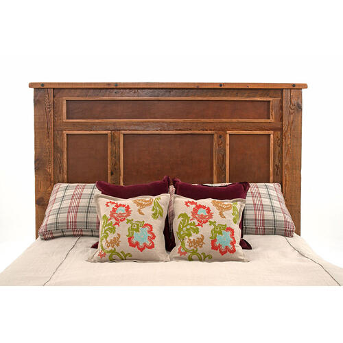 Pagosa Springs - Bed - California King bed With Leather Panel