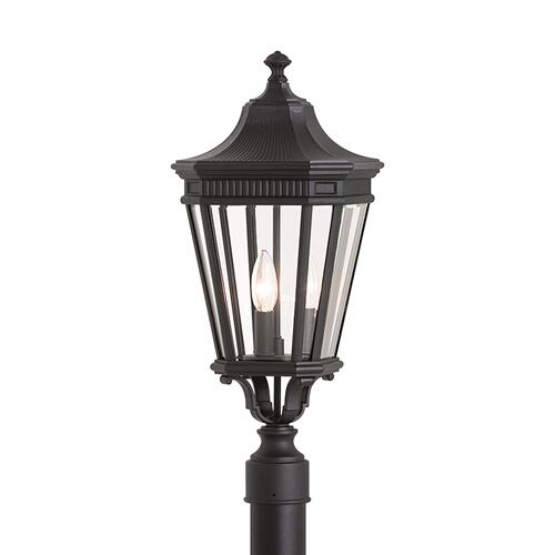 Cotswold Lane Small Post Lantern Black