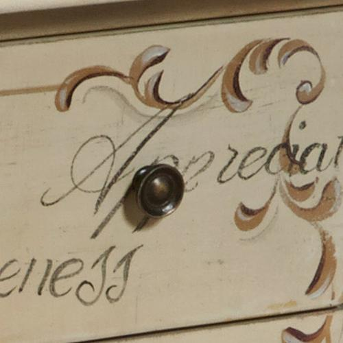 Accentrics Home - Words of Encouragement Wooden Bombay 3 Drawer Chest