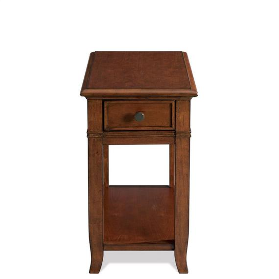 Riverside - Chairside Table - Burnished Cherry Finish