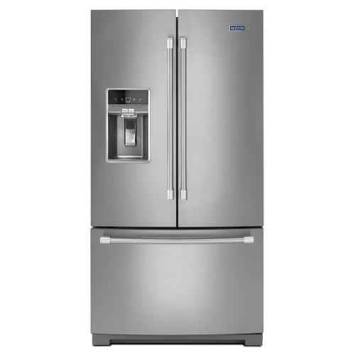 Maytag® 36-inch Wide French Door Refrigerator with Fingerprint Resistant Stainless Steel Exterior - 27 cu. ft.