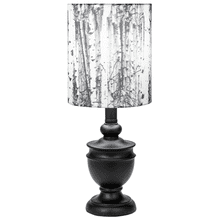Black Accent Lamp with Birch Shade. 40W Max.