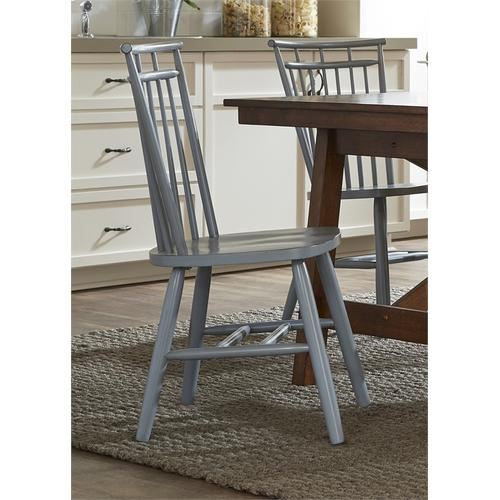 Spindle Back Side Chair - Blue