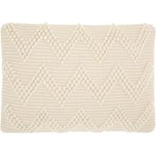 "Life Styles Dc173 Ivory 14"" X 20"" Throw Pillow"