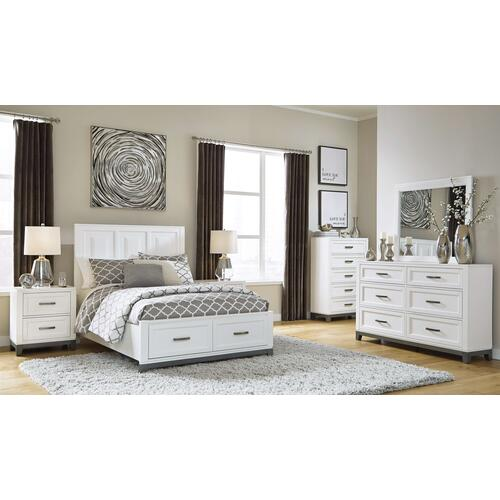 Product Image - Full Panel Bed With Mirrored Dresser and 2 Nightstands