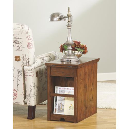 Laflorn Chairside End Table With Usb Ports & Outlets