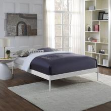 Elsie Full Bed Frame in White