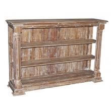 Distressed Column Bookcase