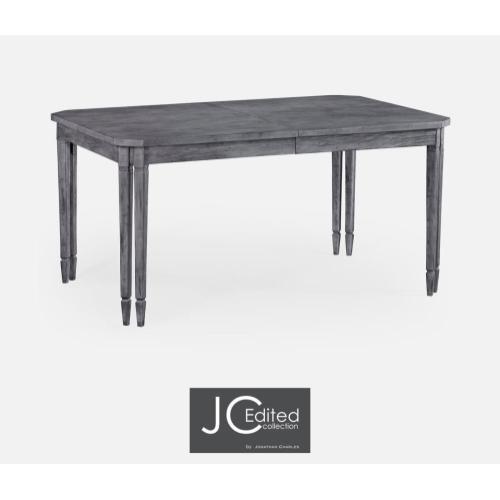 Rectangular dining table in antique dark grey