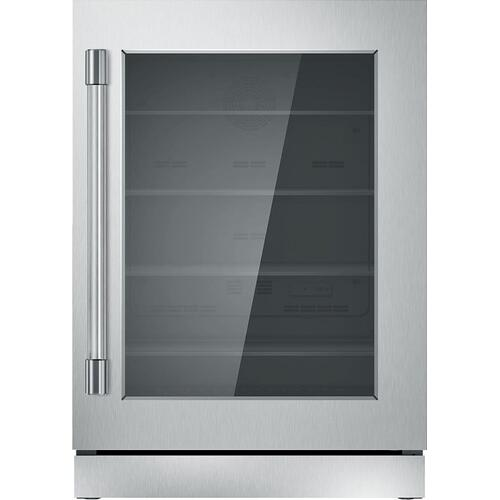 Freedom® Glass Door Refrigeration 24'' Professional Stainless steel T24UR920RS