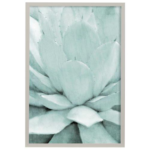 Style Craft - Agave I  Made in USA  Artist Print  Faux Wood Frame Under Glass  Attached Hanging Hardware