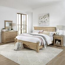 Manor House King Bed, Nightstand and Dresser With Mirror