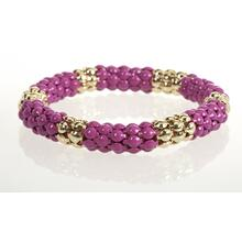 BTQ Pink and Gold Beaded Bracelet