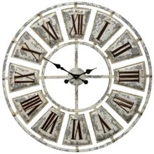 See Details - Antique Metal Wall Clock  31in X 31in
