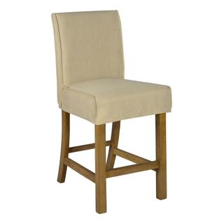 See Details - Short Stool Slip Cover-washable + Reversible Oatmeal