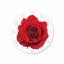 Big Rose Round Acrylic Wall Clock