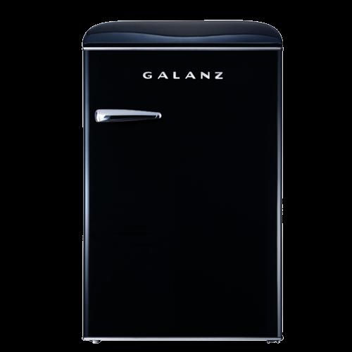 Galanz 3.1 Cu Ft Retro Upright Freezer in Vinyl Black