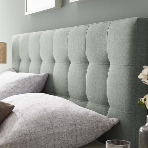 Modway - Lily King Upholstered Fabric Headboard in Gray