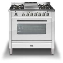 36 Inch True White Natural Gas Freestanding Range