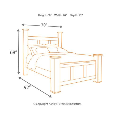 Product Image - Queen Poster Bed With Mirrored Dresser, Chest and 2 Nightstands