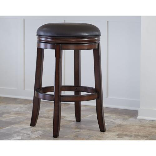 Faux Leather Tall Swivel Stool