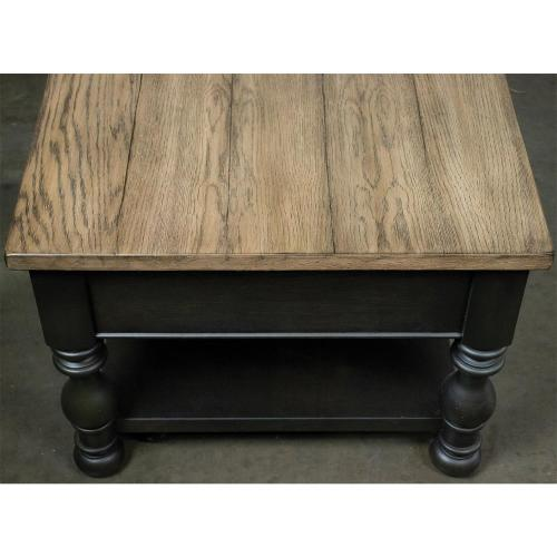 Barrington - Rectangular Coffee Table - Antique Oak/matte Black Finish