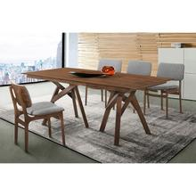 Cortina and Lima 5 Piece Walnut Rectangular Dining Set