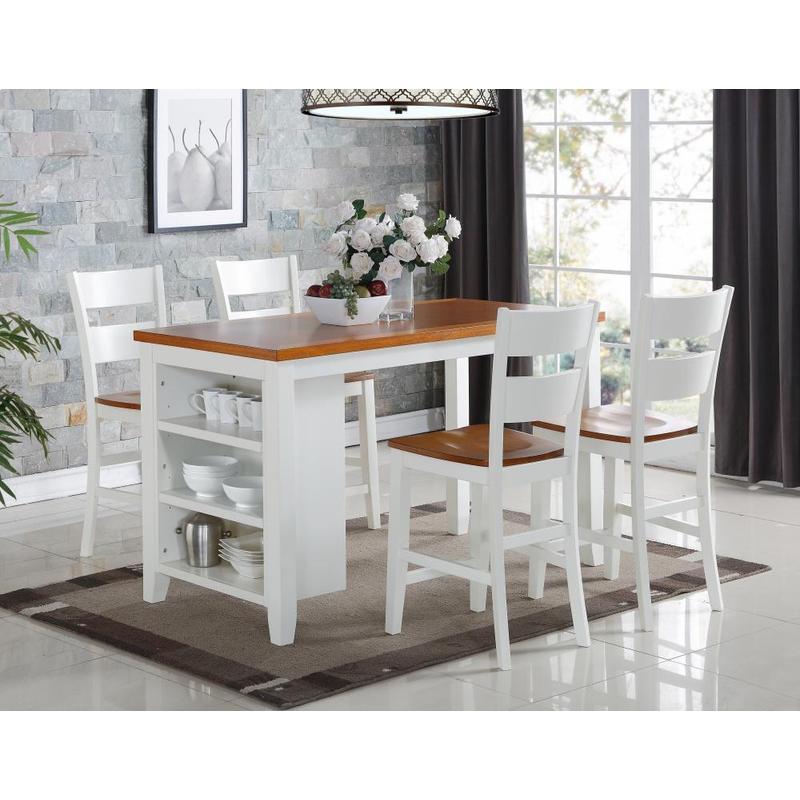 5 PC Island - Kitchen Island and 4 Pub Chairs