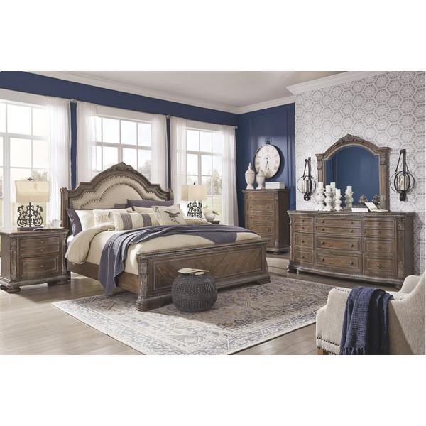 Charmond California King Upholstered Sleigh Bed
