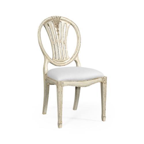 Hepplewhite wheatsheaf side chair (Off-white) - COM