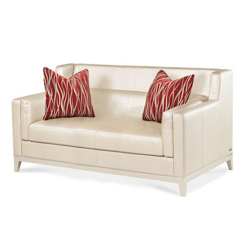 Group 1 Opt 2 Leather Loveseat Pearl/Red