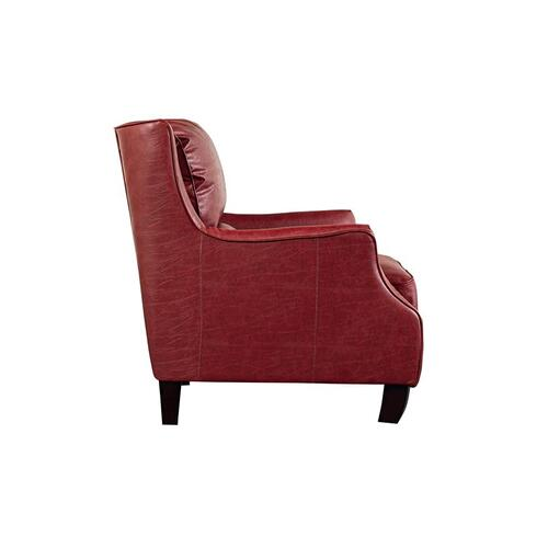 Porter International Designs - Garnett Red Leather-Look Accent Chair, ACL516