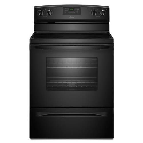 Amana - Amana® 30-inch Amana® Electric Range with Easy Touch Electronic Controls - Black