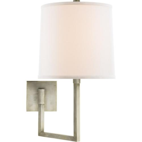 Visual Comfort BBL2029PWT-L Barbara Barry Aspect 14 inch 100 watt Pewter Finish Swing-Arm Wall Light